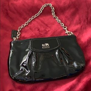 Coach patent leather clutch